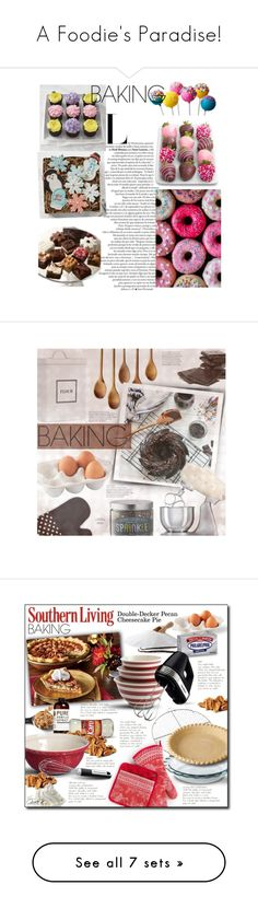 """A Foodie's Paradise!"" by curekitty ❤ liked on Polyvore featuring interior, interiors, interior design, home, home decor, interior decorating, Williams-Sonoma, Brownie Points, Juliska and Martha Stewart"