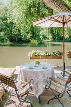 The outdoor sitting area at the restaurant Auberge de L' Ill, at the Hotel des Berges, a country inn. (Photo: Clara Tuma for The New York Times)