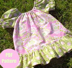 Peasant Dress Pattern Girls Dress Pattern Baby by pinkpoodlebows, $6.00