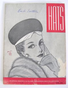 VINTAGE June 1956 HATS Millinery Accessory by VintageFunkandFlair, $95.00