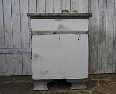 bedside cabinet - shabby chic