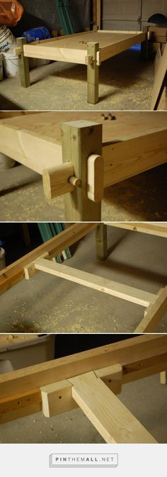 Bed frame for all seasons primitive camp - created via https://pinthemall.net