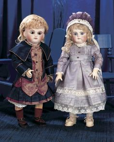 Magnifique! Family Dolls of Mildred Seeley: 214 An All-Original French Bisque Brown-eyed Bebe by Schmitt et Fils