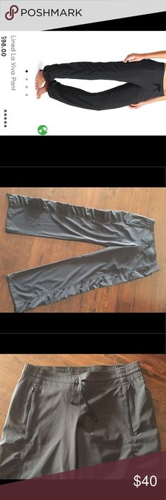 """Athleta La Vida Workout Pant! Awesome Athleta La Vida Workout Pants. They are black with cute ruching down the sides of the leg. You can cinch the bottom of the pant legs if you desire. Inseam is 31"""". Size 2. Worn once and in excellent condition. Athleta Pants"""