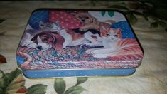 Vintage 1970's/80's JS Of NY Puppies & Kittens Double Deck Playing Cards Tin/Can/Container Collectible Decorative Piece Made in China by VintageZoneByJoao on Etsy