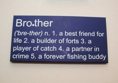 Brother 1.a best friend for life 2.a builder of forts 3.a player of catch 4.a partner in crime 5.a forever fishing buddy - custom canvas wall art