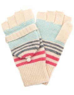 Verona Cashmere Blend Stripe Capped Glove