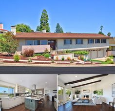 """Sophisticated Mediterranean-Contemporary style home. Sitting in a desirable """"Golf"""" country club with views of the Pacific Ocean, it has 5 bedrooms, 4 baths, a custom designed kitchen, dramatic exposed-beam ceilings and a spacious backyard."""