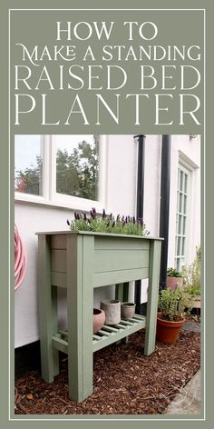 How to Make Your Own DIY Standing Raised Bed Planter - perfect for beginners, this tutorial will guide you to making your own (totally adaptable) standing planter - perfect for adding height and greenery to a patio or balcony and to create an easier way to grow herbs or flowers for those who have issues with mobility. #diy #diygarden #planter #diyplanter #diyraisedplanter #raisedstandingplanter #raisedbed #raisedbeddiy #uk Raised Planter Beds, Raised Beds, Brick Garden Edging, Diy Planters, Growing Herbs, Home Renovation, Standing Planter, Balcony, Greenery