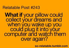 Oh that would be interesting!