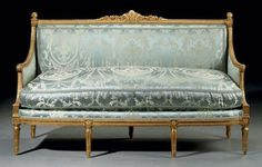 A LOUIS XVI GILT WALNUT CANAPE BY GEORGES JACOB, CIRCA 1775  PRICE REALIZED $134,500