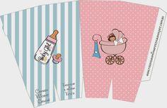 Cochecito Rosa de Bebé: Cajas para Imprimir Gratis.