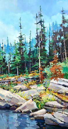 "Determine even more relevant information on ""abstract art paintings tutorial"". Look at our website. Watercolor Landscape, Landscape Art, Landscape Paintings, Watercolor Paintings, Art Paintings, Watercolour, Sunset Landscape, Guache, Canadian Art"