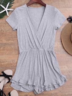 GET $50 NOW | Join Zaful: Get YOUR $50 NOW!http://m.zaful.com/ruffled-plunging-neck-surplice-romper-p_282916.html?seid=qio2bk9oa8dbt0lkb4kigeb8c7zf282916