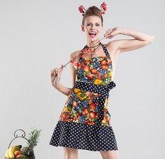 ALBA - die süße Schürze mit Obst-Motiv von SHEELA Housewife Revolution