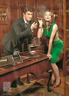 Photo of TV Guide - TV's Hottest Romance for fans of Castle & Beckett 19557403 Castle Series, Castle Tv Shows, Stana Katic Hot, Cigars And Women, Molly Quinn, Tv Detectives, Castle Beckett, Nathan Fillion, Bond Girls