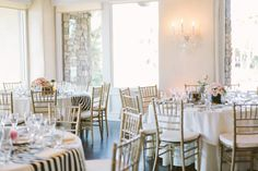 I truly believe a sure fire way to a glamorous color palette is to stick to a tried and true black and white combo. And added to that classic black and white stripe act. Wedding Reception, Wedding Venues, Reception Ideas, Westlake Village Inn, Indoor Wedding, Wedding Inspiration, Wedding Ideas, Style Me, Wedding Planning
