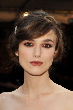 Keira Knightley. She was blessed with beautiful bone structure and big eyebrows...I'm jealous.