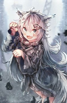 I drew a Lappland : arknights - - Anime Wolf Girl, Anime Girl Neko, Anime Girl Cute, Anime Art Girl, Kawaii Neko Girl, Cute Neko Girl, Chica Gato Neko Anime, Chica Anime Manga, Diablo Anime