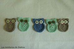 Chouettes en crochet (1) + tuto
