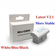 Супер Мини Bluetooth ELM 327 Аппаратных V2.1 OBD2 Scan Tool ELM327 Белый Синий Черный Опционально С Розничной Коробке