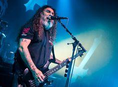 Tom Araya of Slayer performs in Detroit, Michigan.