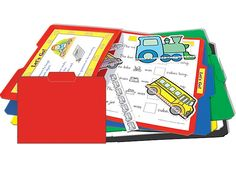 File folder game with a pocket to store tiny pieces.