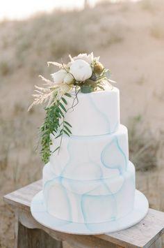 Pretty rustic & watercolor cake: http://www.stylemepretty.com/australia-weddings/victoria-au/melbourne/2015/09/14/romantic-seaside-winters-twilight-inspiration-2/ | Photography: In Photography - http://www.inphotography.com.au/