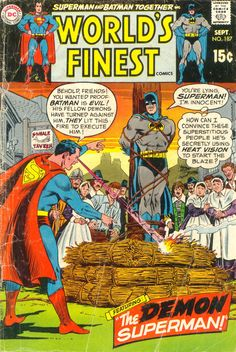"""""""Superstitious people"""" - World's Finest Comics N°187 (September 1969) - Cover by Curt Swan and Murphy Anderson"""