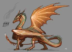 Copper Dragoness by KaiserFlames on DeviantArt