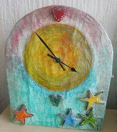 how to make a papier mache clock - Google Search