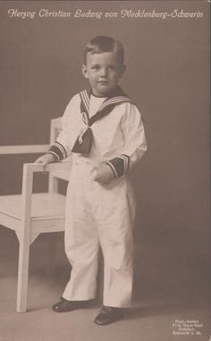 Great-grandchild of Christian IX - Duke Christian Louis of Mecklenburg (1912 – 1996) was the second son of the last reigning Grand Duke of Mecklenburg-Schwerin, Frederick Francis IV. Following the defeat of the German Empire in World War I his father abdicated on 14 November 1918. After the abolition of the monarchy, in 1919 the family went on the invitation of Queen Alexandrine, consort of Christian X of Denmark & sister of the Grand Duke into exile in Denmark.