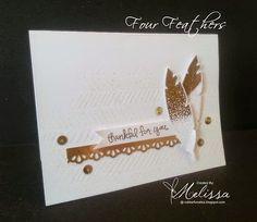 Stampin' Up! Four Feathers by Melissa Davies @ rubberfunatics