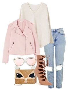 """""""Outfit #588"""" by naleland on Polyvore featuring moda, Topshop, MANGO, Betsey Johnson i Steve Madden"""