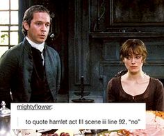 Pride and Prejudice + text posts | via Tumblr