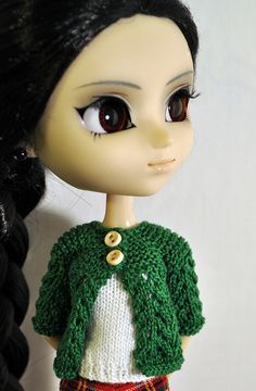 Pullip sweater for Blythe free knitting pattern
