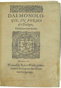 king james the book of demonology - Bing images Halloween Spell Book, Halloween Spells, Witchcraft Books, A Discovery Of Witches, American Gothic, Title Page, Ex Libris, King James, Book Binding
