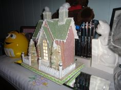 Glitter or Putz house I made from a Melissa Francis kit.