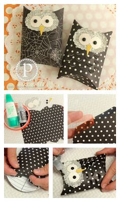 Pebbles In My Pocket Blog: Owl Pillow Box Tutorial