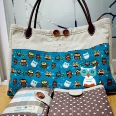 If I can make a diaper bag, changing mat and diaper/wipes holder so can you ^.^