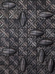 RAJO tiles | design by davidpompa | Barro Negro | black pottery | handmade in México