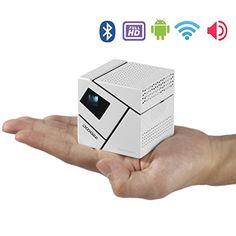 Mit dem Mini Beamer zauberst du Dir im Handumdrehen großes Kino ins Wohnzimmer. Auch mit dem Smartphone verbindbar. Auch für Präsentationen geeignet.
