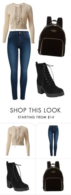 """Untitled #2"" by aldina-catovic ❤ liked on Polyvore featuring Pieces and Kate Spade"