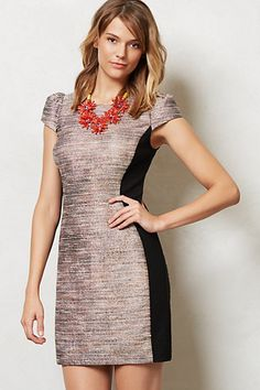 grisaille hourglass dress - anthropologie