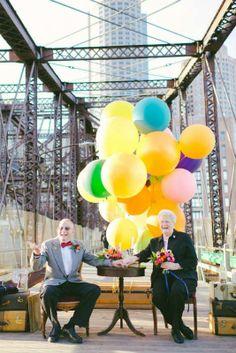 """TERNURA: Matrimonio celebra su 61 aniversario con una sesión de fotos que recrea la película """"UP"""" -"""