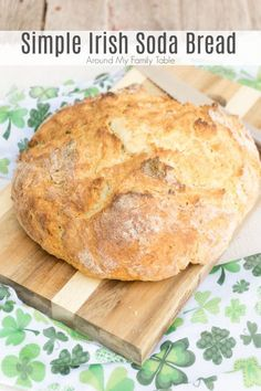 Patrick's Day dinner doesn't have to be hard or time consuming. My Simple Irish Soda Bread is ready in 45 minutes. Patrick's Day dinner doesn't have to be hard or time consuming. My Simple Irish Soda Bread is ready in 45 minutes. Yeast Free Breads, No Yeast Bread, Bread Food, Yeast Free Diet, Cooking Bread, Food Food, St Patricks Day Food, Irish Recipes, Irish Soda Bread Recipes