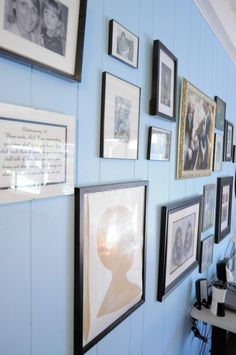 I've always wanted to do a wall full of family photos in great frames.