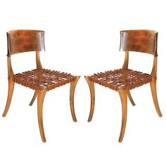 Pair of Klismos Chairs by T.H. Robsjohn Gibbings for Saridis of Athens, ca.1961| From a unique collection of antique and modern side chairs at http://www.1stdibs.com/furniture/seating/side-chairs/