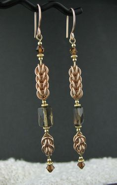 Long Rose Goldfill Mixed Metals Chainmaille di LoneRockJewelry