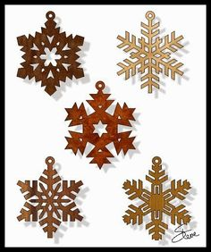 Scrollsaw Workshop: Snowflake Christmas Ornament Scroll Saw Patterns.